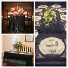 Black Sequin Table Tablecloths for Wedding/Event/Party, Home Garden Table