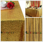 Choose Size Gold Rectangle Sequin Tablecloth for Party Wedding Table