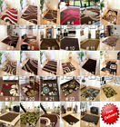 NEW SMALL MEDIUM EXTRA LARGE SOFT QUALITY BROWN RUGS, CHOCOLATE COFFEE MATS SALE