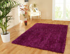 MEDIUM & LARGE THICK SHINY GLOSSY STRAND SPARKLE STYLE FUCHSIA PINK SHAGGY RUG