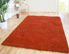 LARGE RUST TERRACOTTA BURNT ORANGE THICK DENSE PILE LUXURY SHAGGY CLEARANCE RUG