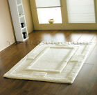SIERRA APOLLO PLAIN IVORY CREAM NATURAL THICK CHUNKY SOFT LUXURY 100% WOOL RUG