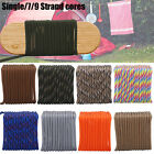 Mix Color Paracord Rope Single/7/9 strand Parachute Cord Outdoor Camping Hiking