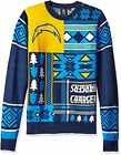 Klew NFL Men's San Diego Chargers Patches Ugly Sweater, Blue $39.95 USD