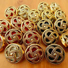 5x celtic knot buttons gold & red blue black or white background several sizes