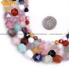 AAA Faceted Multicolor Semi Precious Gemstone DIY Beads For Jewelry Making 15''