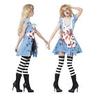 Smiffys Zombie Alley Womens Zombie Malice Fancy Dress Ladies Halloween Costume