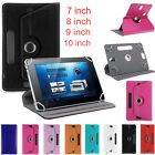 Folio 360° Universal Leather Flip Case Cover For 7 8 9 10 inch Android ...