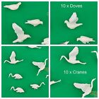10pcs New model train figure plastic Red-crowned Crane Or white dove scale gauge