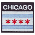 CHICAGO FLAG BADGE EMBROIDERED PATCH