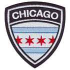 CHICAGO FLAG CREST EMBROIDERED PATCH