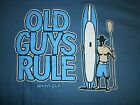 """OLD GUYS RULE"""" SUP GUY """"SURF STAND UP SURFBOARD LONGBOARD FIN BEACH M,L,XL,2X,3X"""