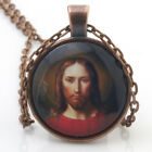 Jesus Saves Christian Faith necklace Cabochon Glass for women men Jewelry