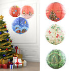 2PCS Merry Christmas Decorative Paper Lamp XMAS Tree Snowman Party Ornaments