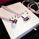 Luxury Jewelry Pearl Necklace Earphones Stereo Headset 3.5mm Cell Phone HOT