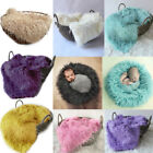 Faux Fur Newborn Infant Photography Prop Baby Blankets Basket Stuffer Cloth Bed