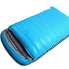 Blue Purple Outdoors Camping Ultralight Double Down Feather Sleeping Bag Fashion