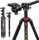 "K&F Concept Professional Tripod Monopod Ball Head 67"" TM2534T for DSLR Camera <br/> Transverse Center Column,30 Days Return,1 Year Warranty"