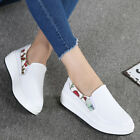 New Womens Casual Creepers Walking Flat shoes US Size 4-8.5 Faux Leather