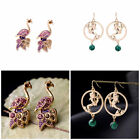 New Fashion Women Animal Simulated Pearl Hook Dangle Ear Stud Earrings