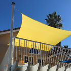 Sun Shade Sail Canary YL Permeable Canopy Lawn Patio Pool Garden Deck 5x5 24x24