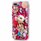 For Cell Phones Luxury Rhinestone Diamond Bling Crystal Pearl Hard Girly 3D Case
