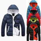 NEWMen Slim Warm Jacket Hooded Winter Thick Zipper Coat Hoodie Overcoat Terrific