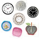 Wall Clocks Battery Operated Decor Home School Office Metal Glass Plastic Indoor