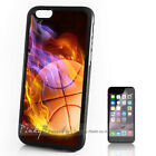 ( For iPhone 4 5 5C SE 6 6S 7 Plus ) Back Case Cover A10278 Flame Basketball