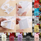 50/100/200 Love Heart Favor Ribbon Gift Boxes Candy Box Case Wedding Party Decor
