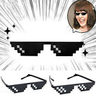 Thug Life Glasses 8 Bit Pixel Deal With IT Sunglasses Unisex Cool Eyewear
