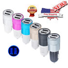 Mini 2-Port USB Car Charger Charging For iPhone iPad Samsung Smartphone Tablet