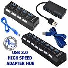 5GBPS 4 / 7 Ports Hub USB 3.0 For PC Laptop External Extension Adapter Cable