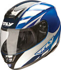 Fly Racing Paradigm Blue and White Motorcycle Helmet
