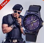 Men's Watch Wristwatch Military Sport Analog Army Quartz Canvas Strap Mens Gift image