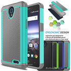 For ZTE ZFive 2 Shockproof Phone Case Hybrid Rugged Rubber Armor Hard Cover