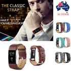 Sports Genuine Leather Bracelet Watch Band Strap For Fitbit Charge 2 Wrist Band