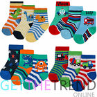 6 Pairs Baby Boys Ankle Socks Soft Cotton Warmer Cartoon Footwear Size 0-3.5 New