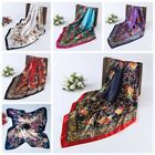 "Women's Flower Printing  Hijab Scarves Silk-Satin Square Head Scarf 35""x35"" New"