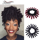 20 Inch Faux Tapered Cut Natural Hair Crochet Braids Curly Hair Extension