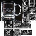 Personalized 13oz Glass Coffee Beer Mugs Custom Wedding Party Anniversary Gifts