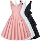 Plus Womens Retro 1950'S Wiggle Flared Dress Cocktail Evening Party Swing Dress