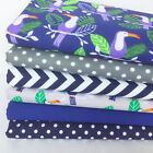 Pelican blue & grey  6 piece  bundles, Polycotton fabric, for sewing & crafts