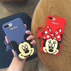 Cartoon classic Disney Minnie mickey Ring Soft case Cover for iPhone 7 6 6S Plus