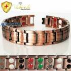 PURE SOLID COPPER 2.5 OZ CHUNKY 42 X MAGNETIC BRACELET MEN ARTHRITIS PC01V
