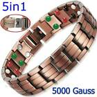 Cu+Bio PURE SOLID COPPER 42 X MAGNETIC BRACELET MEN ARTHRITIS +ADJUSTER PC01V