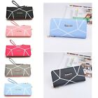 Women Fashion Zipper Long Purse Ladies Clutch Coin Phone Bag Wallet Card Holder