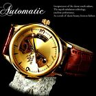 Sewor genuine leather mens automatic watch classic style business analog water r