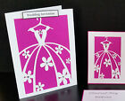 PERFECT DRESS Handmade Invitations *Wedding, Party, Engagement* Pack Of 10