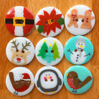 Novelty Christmas buttons 22mm diameter 2 holes sold PER BUTTON